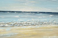 ORIGINAL Art Abstract Seascape Painting Beach Ocean Blue