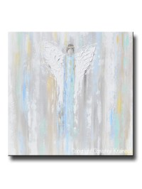 GICLEE PRINT Abstract Art Blue Angel Painting~ Joyful