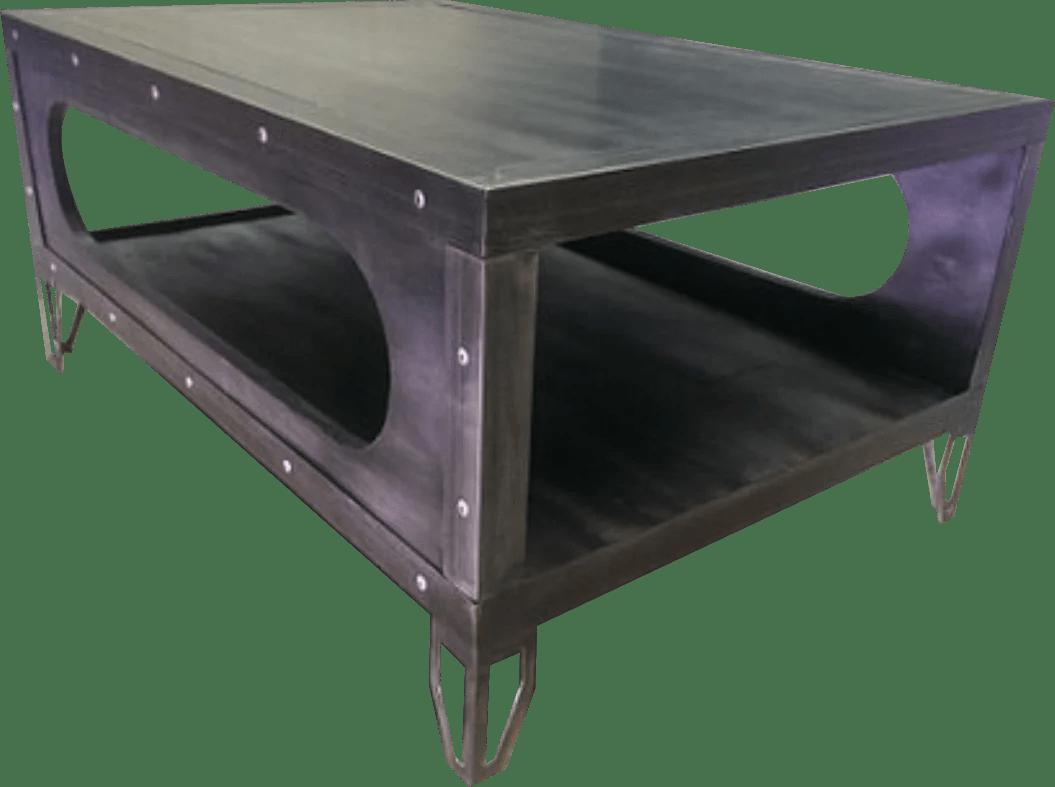 029 industrial gun metal coffee table