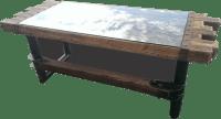 #039 - Rustic Steel and Cedar Timber Desk  Industrial ...