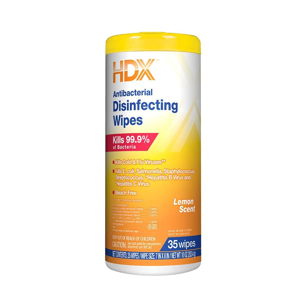 HDX Antibacterial Disinfecting Wipes – Essential Supplies Corp