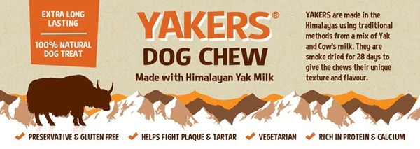 yakers 100 natural dog chews made with