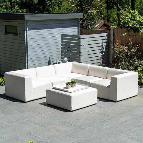 large square corner sofa beveled over the wall mirror fabric sets 2coast outdoor leisure nova toft set with footstool