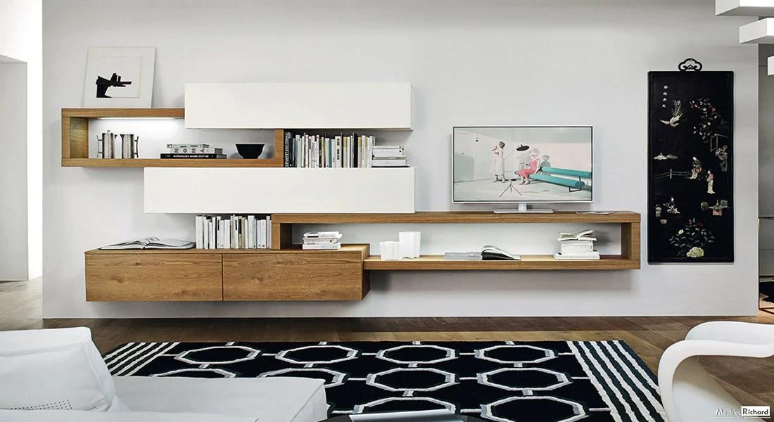 meuble tv modulable suspendu