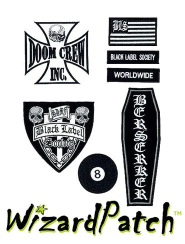 Black Label Patch : black, label, patch, Black, Label, Society, Wizard, Patch™