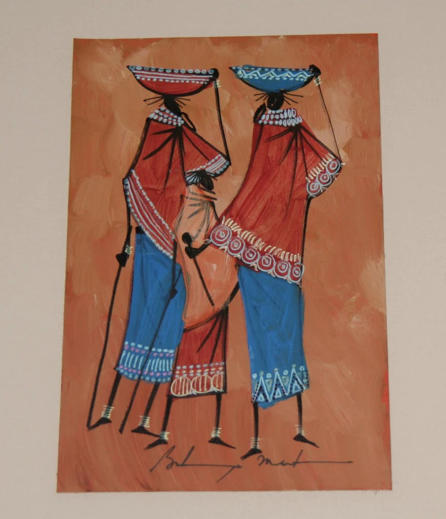 african art maasai women