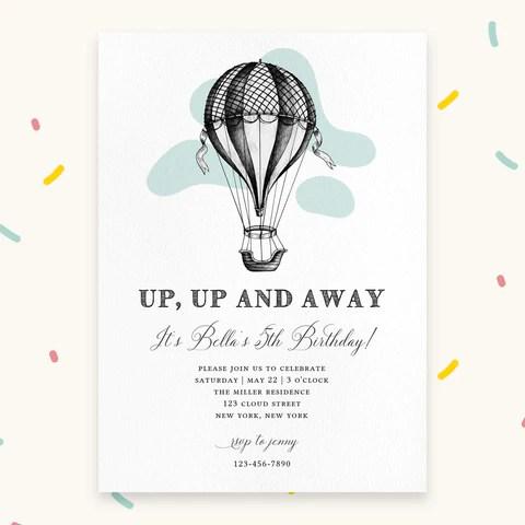 diy customizable birthday invitation