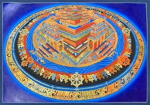 3D Kalachakra Mandala Thangka