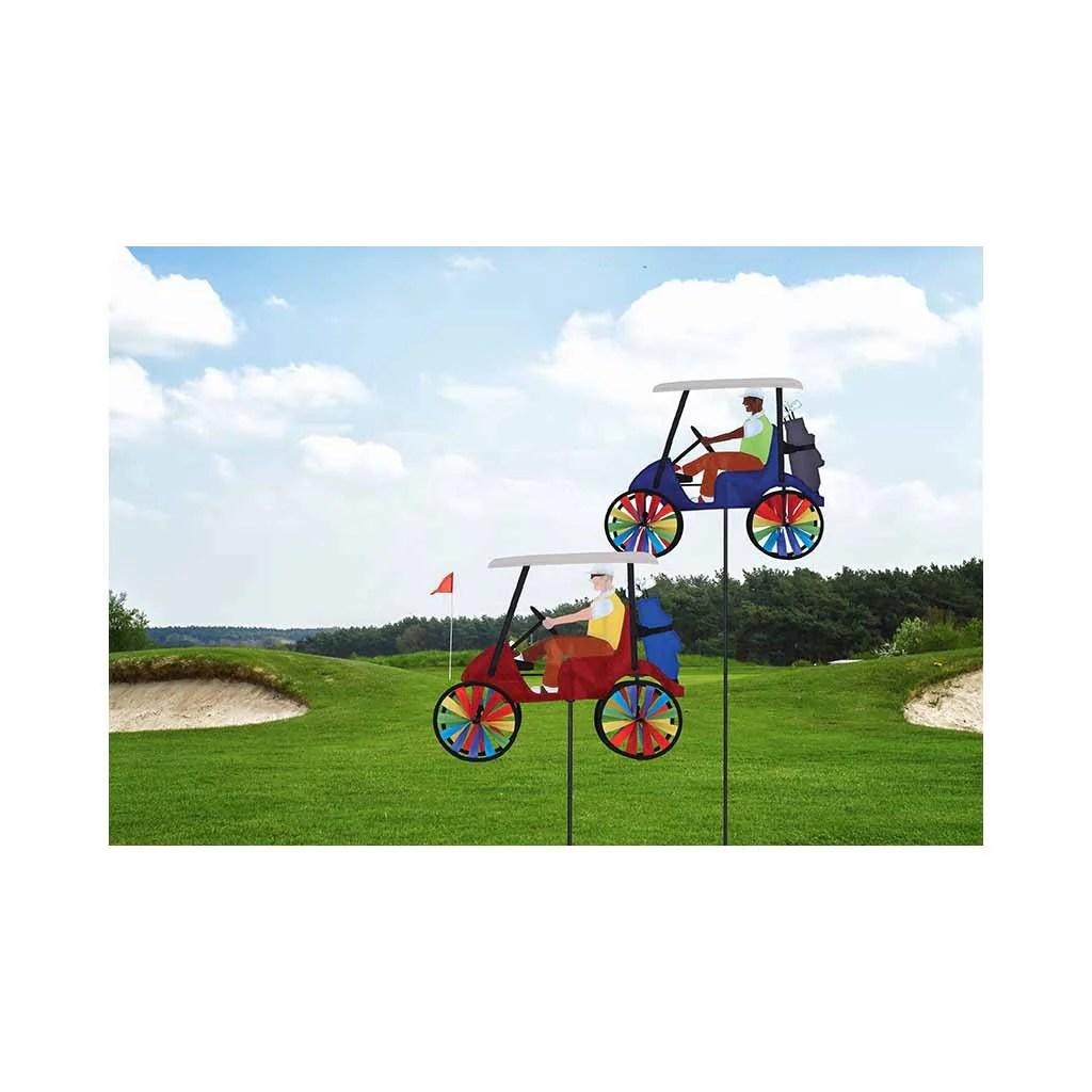 In. Golf Cart Spinner - Red Premier Kites & Design