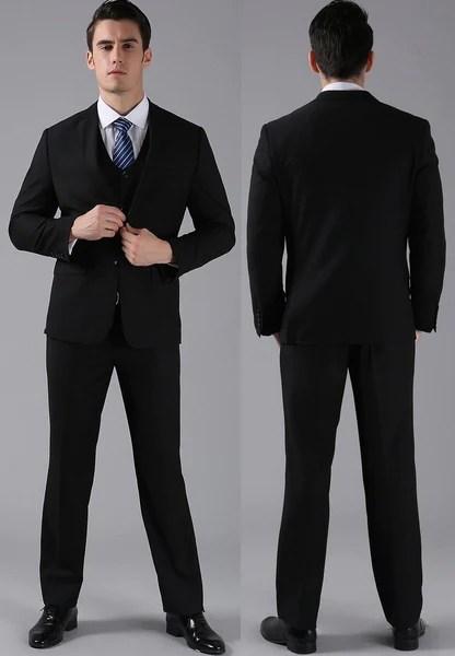 4piece Standard 2Button Formal Full Suit set Jacket Pant Vest  T  U R B A N S T O X