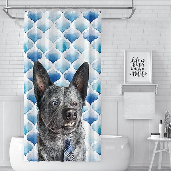 custom pet art shower curtain