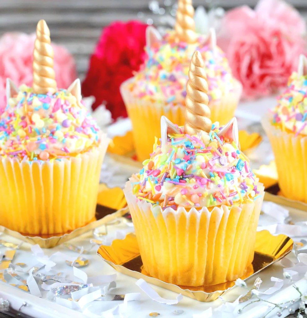 Unicorn Horn Fondant Toppers Unicorn Cupcake Toppers Bakers Party