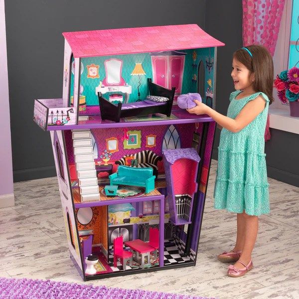 Monster Manor with Furniture  The Magical Dollhouse