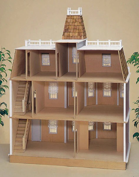 Newport in Brick Dollhouse Kit  The Magical Dollhouse