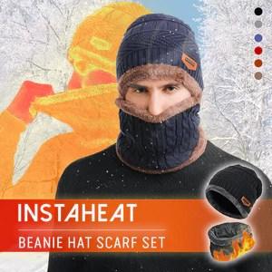 InstaHeat Beanie Hat Scarf Set