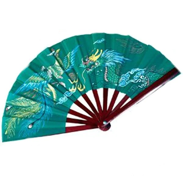 Bamboo Dragon Green Fighting Fans  BlackBeltShop  Martial Arts Supplies Texas