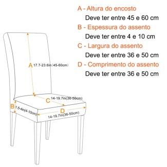 Capa Elástica para Sofá Estampada - Meça o tamanho do seu sofá