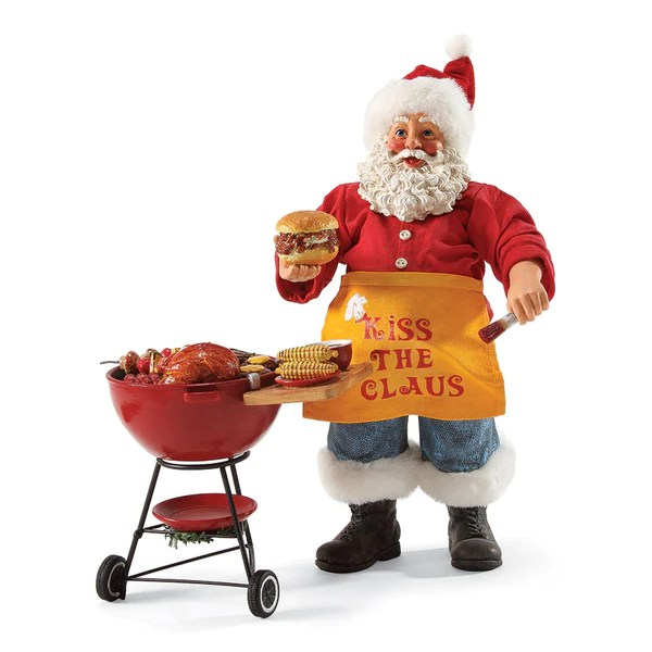 Kiss The Claus Santa BBQ By Possible Dreams