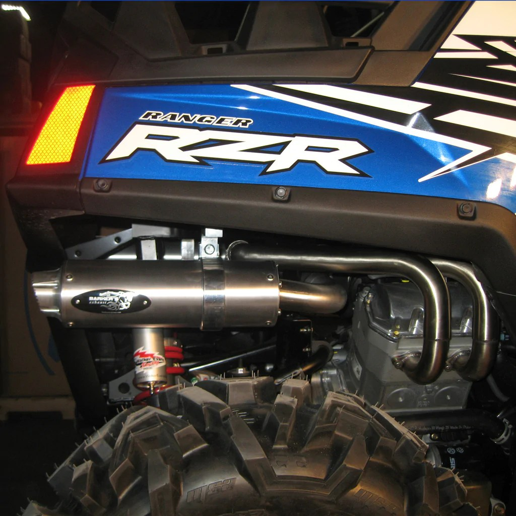 hight resolution of  polaris rzr 800 dual exhaust system
