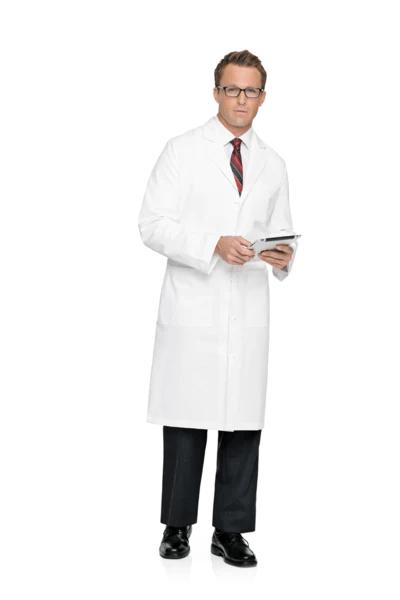 Landau Mens 44 12 100 Cotton Lab Coat  Scrubs  Lab
