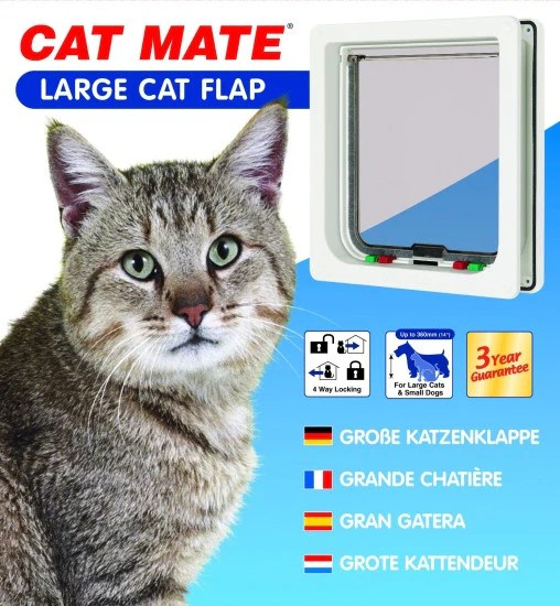 Cat Mate Large Cat Small Dog Flap The Real Pet Co