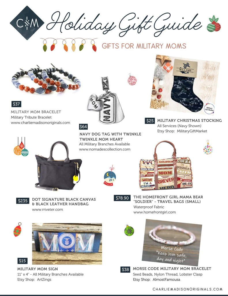 Unique Holiday Gifts For Military Moms Charliemadison