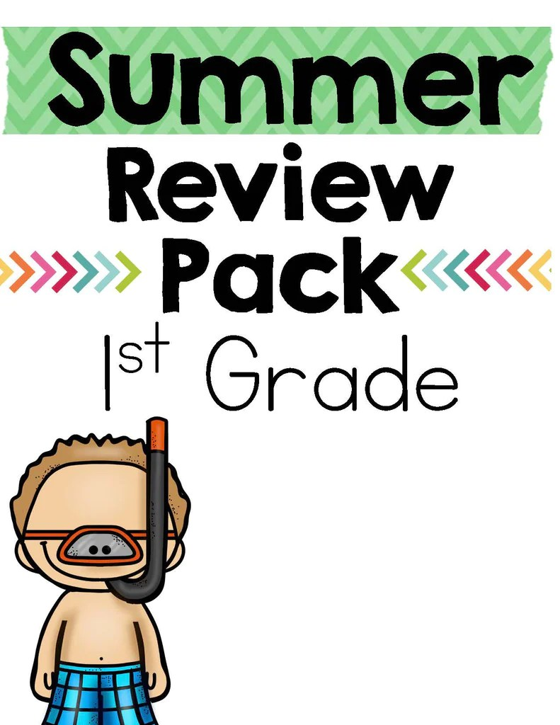 Summer Review Pack 1st Grade  Createabilities