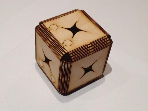 laser cut cube obrary