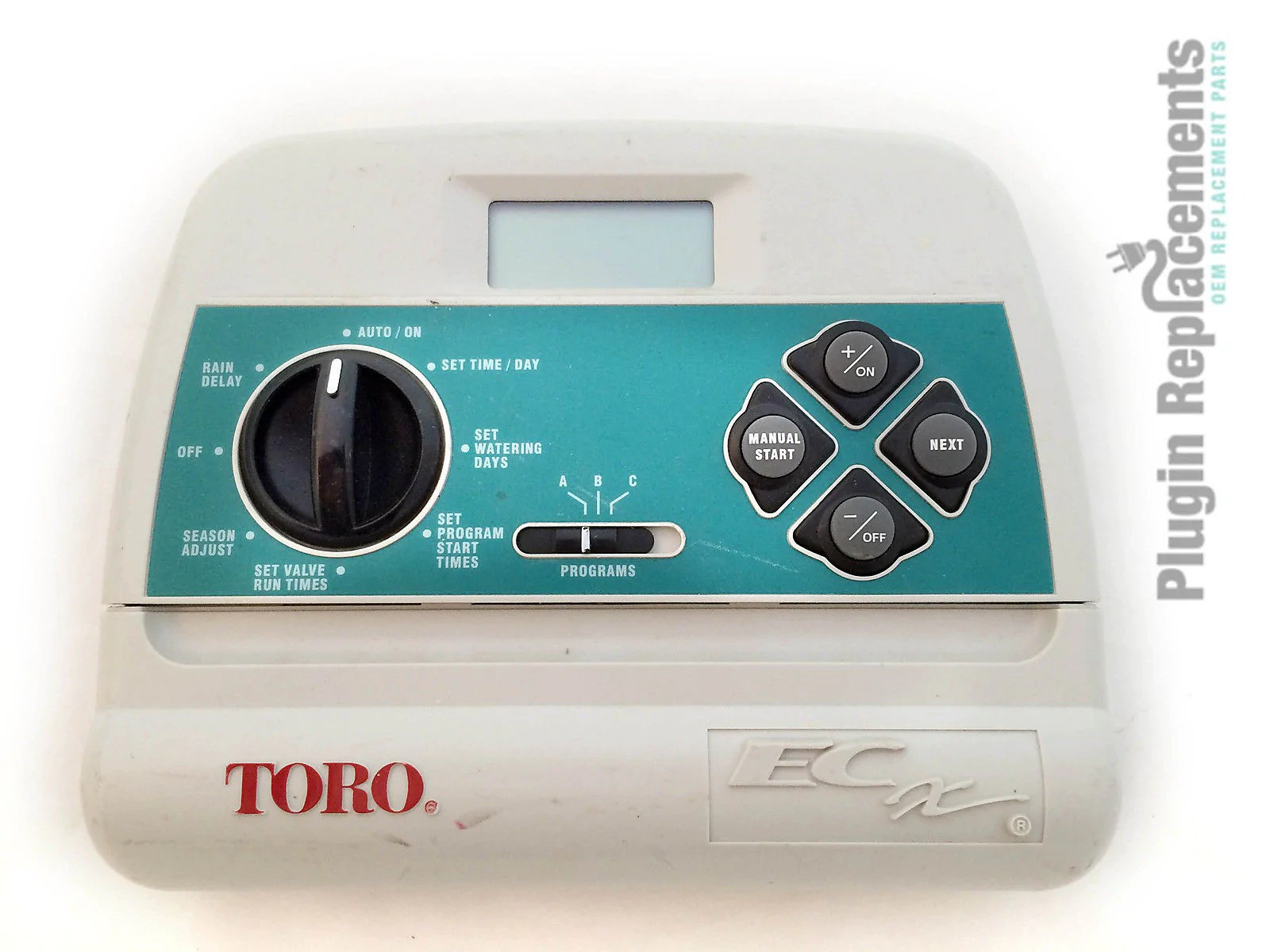 Toro Model ECX 8 Zone SprinklerIrrigation Timer Panel