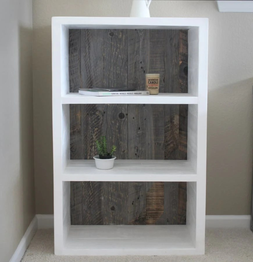 reclaimed wood painted white
