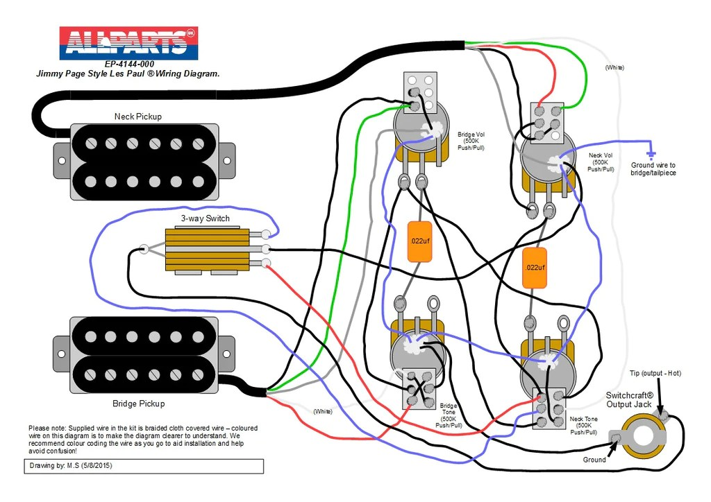 double humbucker wiring diagram 220v motor single phase 2013 les paul data electronics 1959 gibson