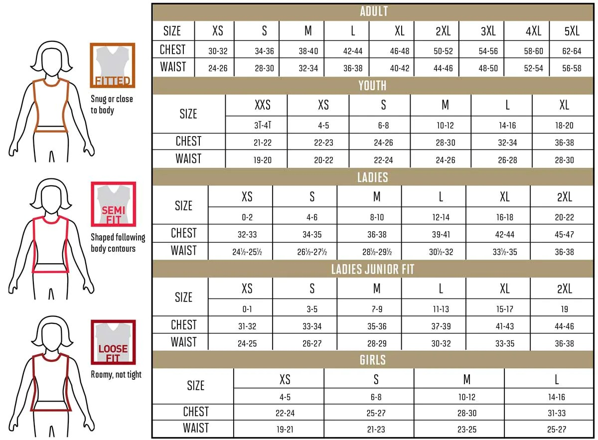 For general size guidance check specific garment measurements by style online also augusta sizing chart  hit  double rh hitadouble