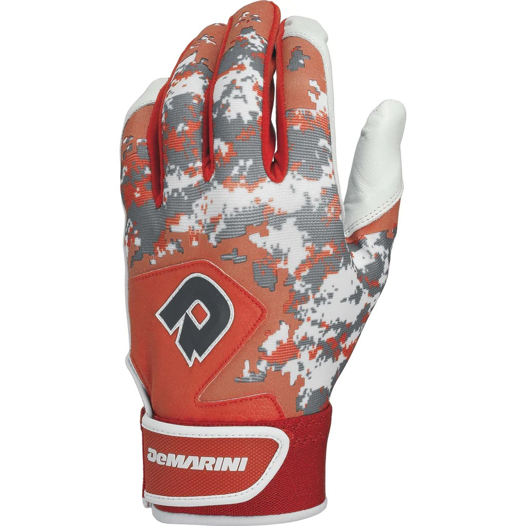 Demarini Digi Camo Ii Adult Batting Gloves - Orange