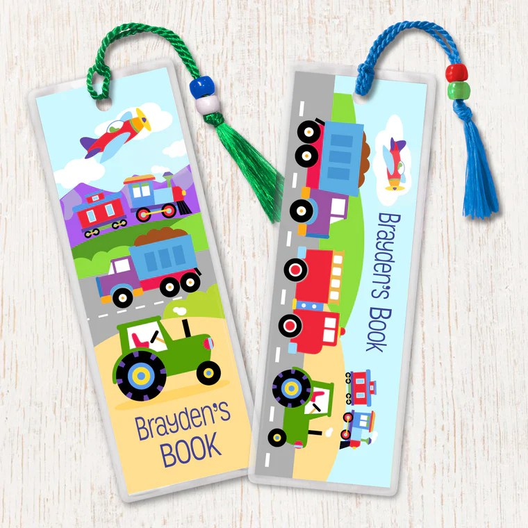 personalized kids bookmarks art