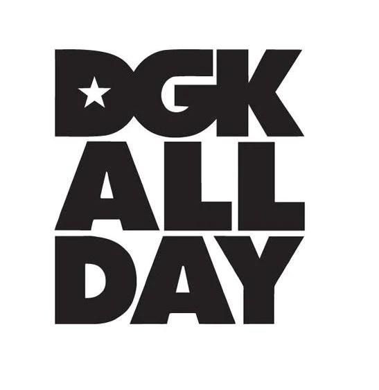 DGK All Day Logo  Die Cut Vinyl Sticker Decal  Blasted Rat