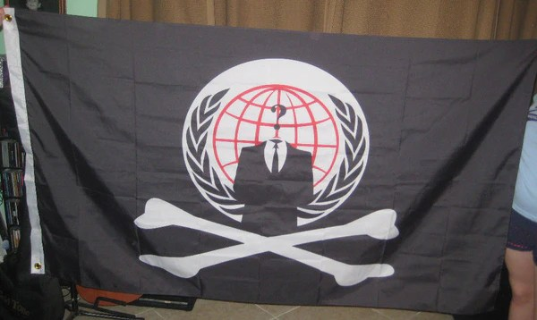 Anonymous Pirate Flag 5x3 Feet Banner NWO ANON 4Chan b