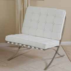 White Leather Accent Chair Modern Ikea Nils Cover Pavilion  Nhmodern