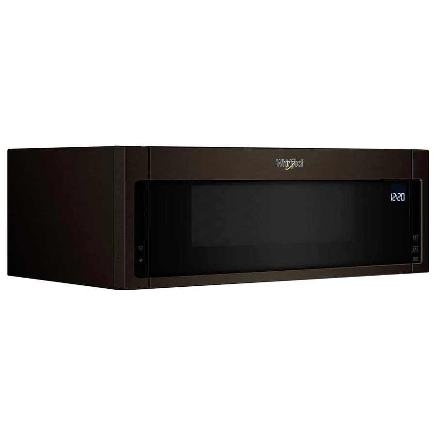 whirlpool 1 1 cu ft over the range microwave in black stainless ywml75011hv