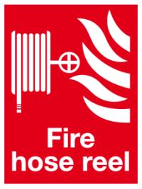 Fire hose reel sign vertical | Fire equipment signs ...