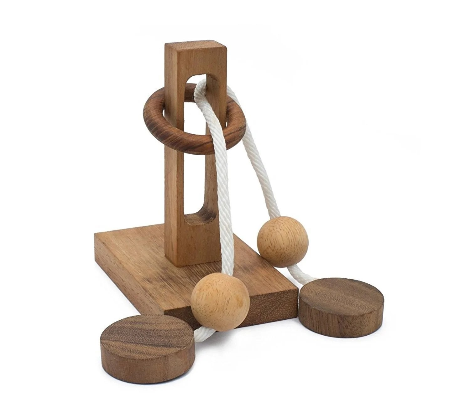 Rope Ball Ring Puzzle