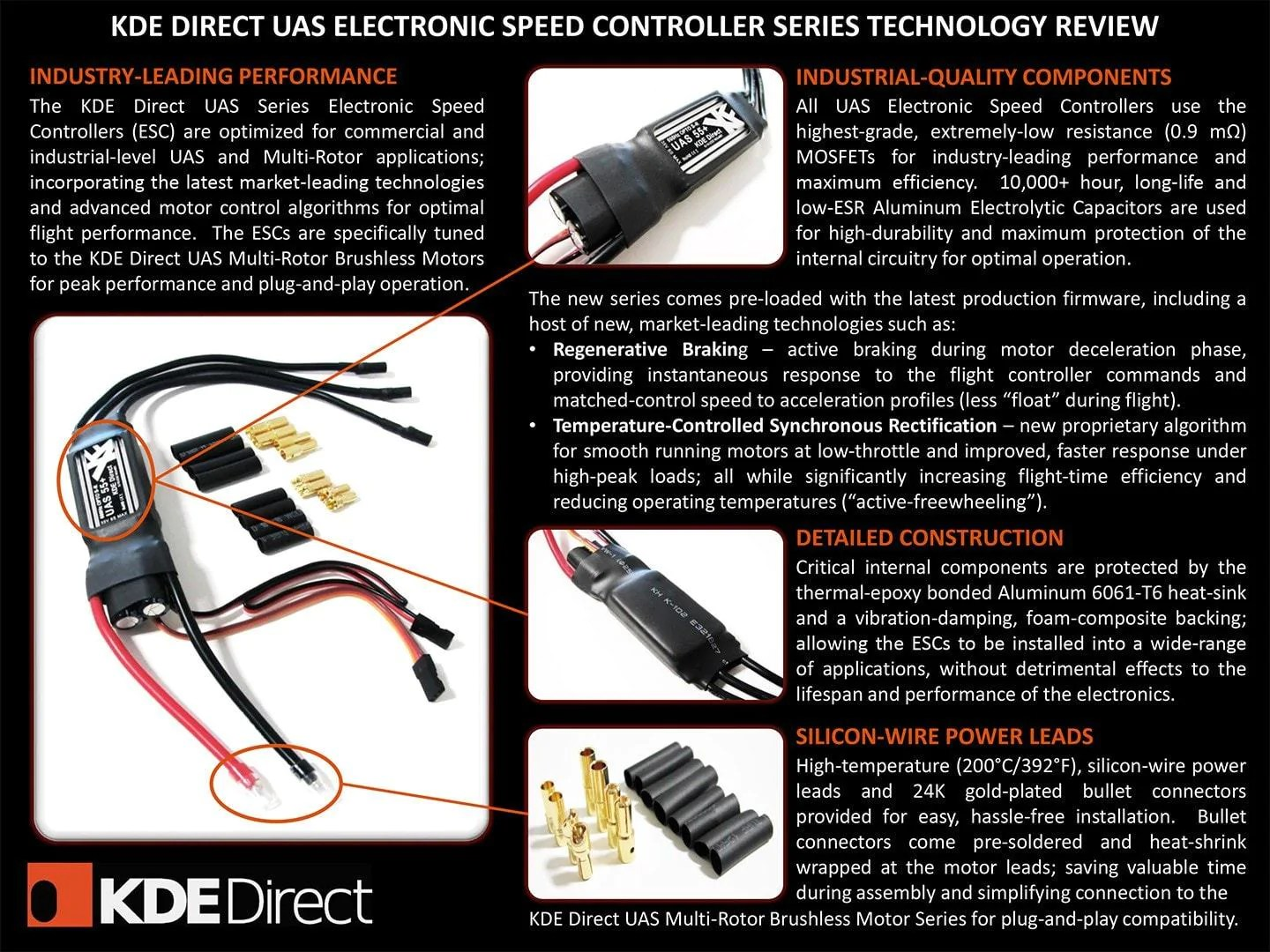 hight resolution of  kdexf uas55 55a electronic speed controller esc for electric multi rotor