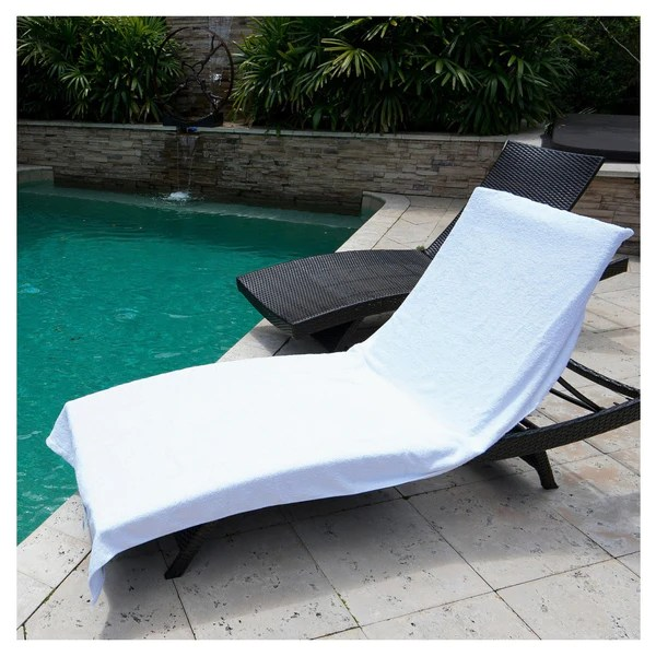 chaise lounge chair cover towel rocking pad winter park co. resort terry - white – flandb.com