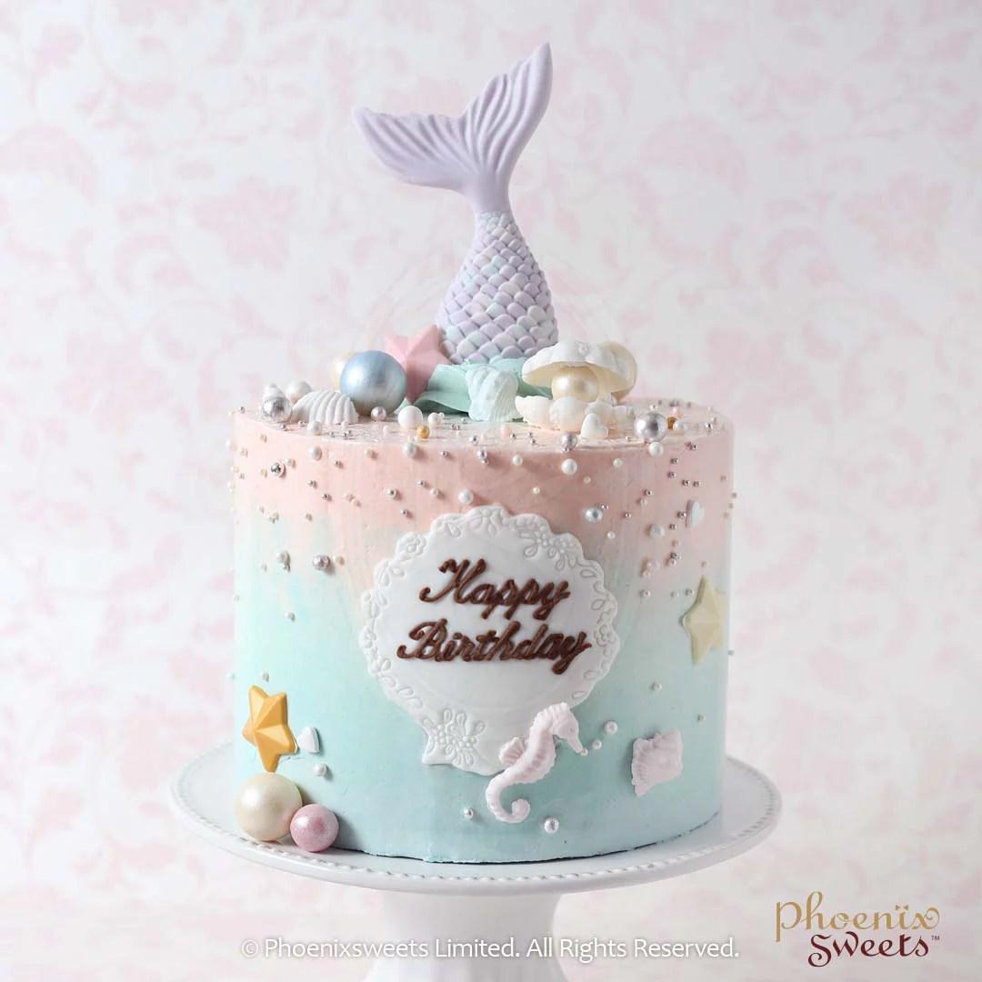 Phoenix Sweets - 訂購牛油忌廉生日蛋糕 - Mermaid Cake (人魚蛋糕) - Phoenix Sweets 香港蛋糕店
