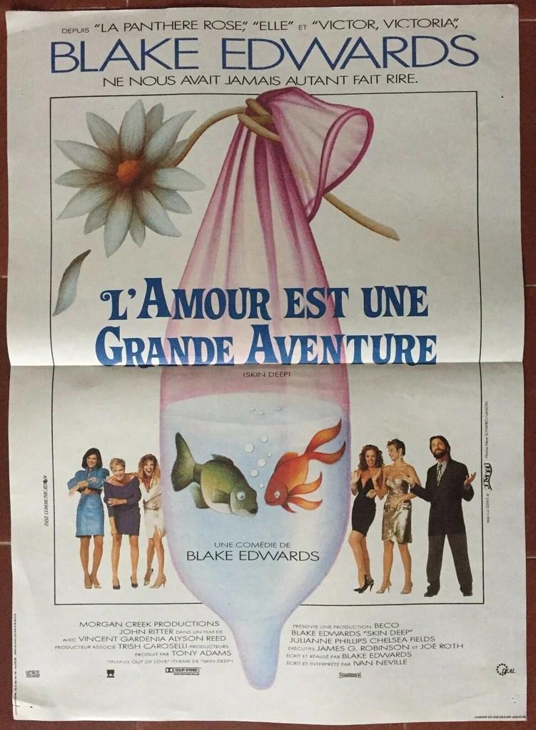 L'amour Est Une Grande Aventure : l'amour, grande, aventure, Affiche, L'AMOUR, GRANDE, AVENTURE, BLAKE, EDWARDS, 40x60c, CINEAD