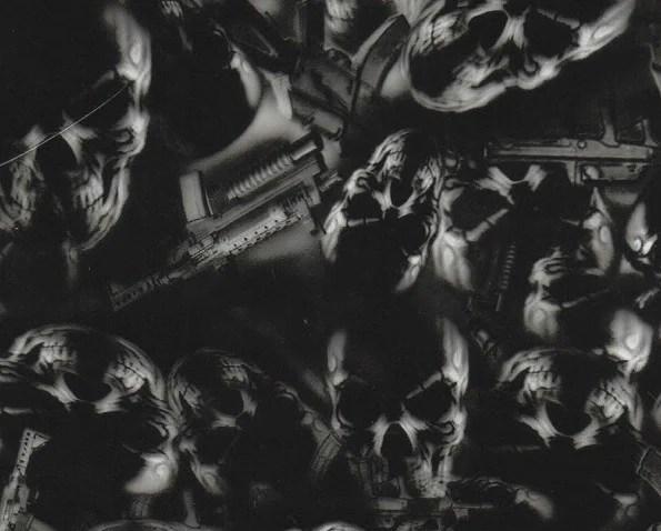 skl009 guns skulls 100cm