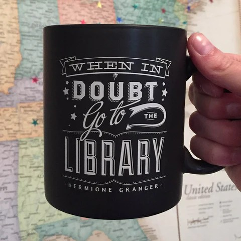 When In Doubt mug by the Harry Potter Alliance
