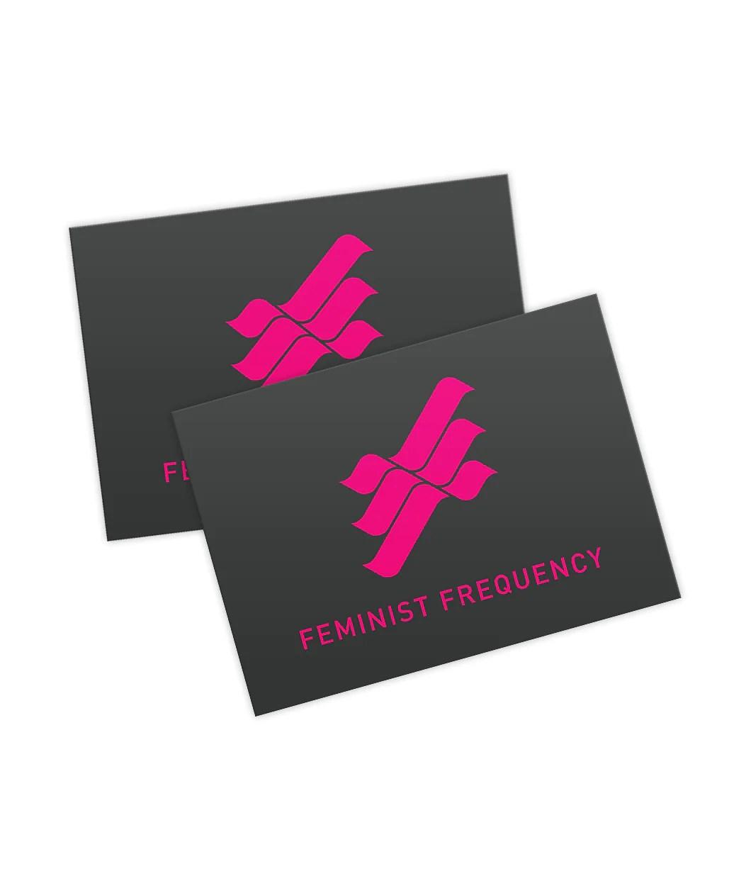 feminist frequency logo sticker