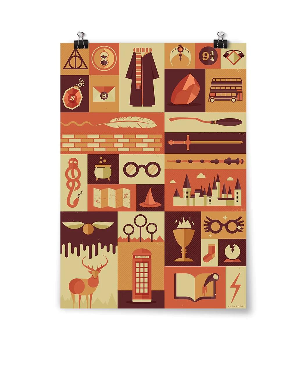 Harry Potter Items Poster Dftba