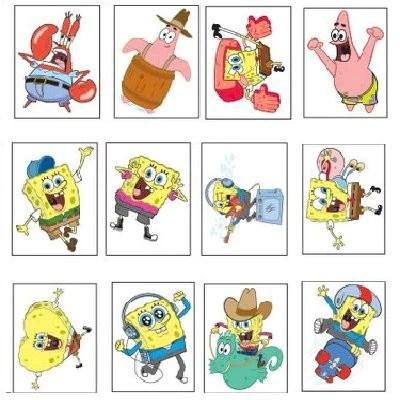 Bulk SpongeBob SquarePants Mini Tattoos 2400 Ct