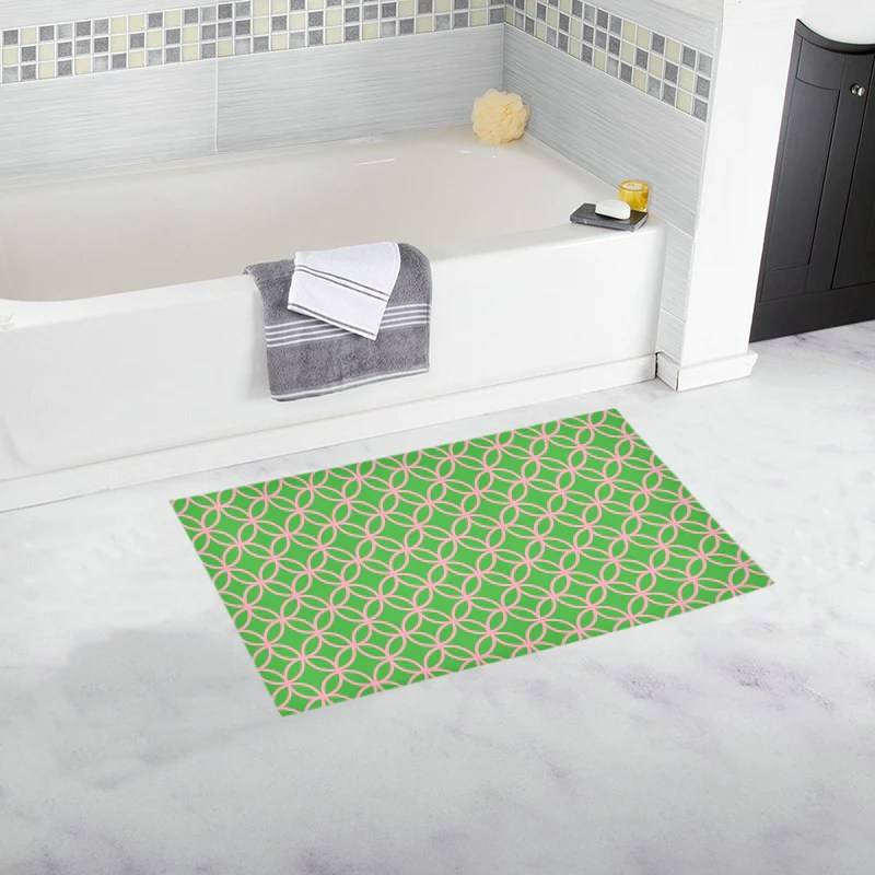 pink and green shower curtain may take up to 16 business days to ship